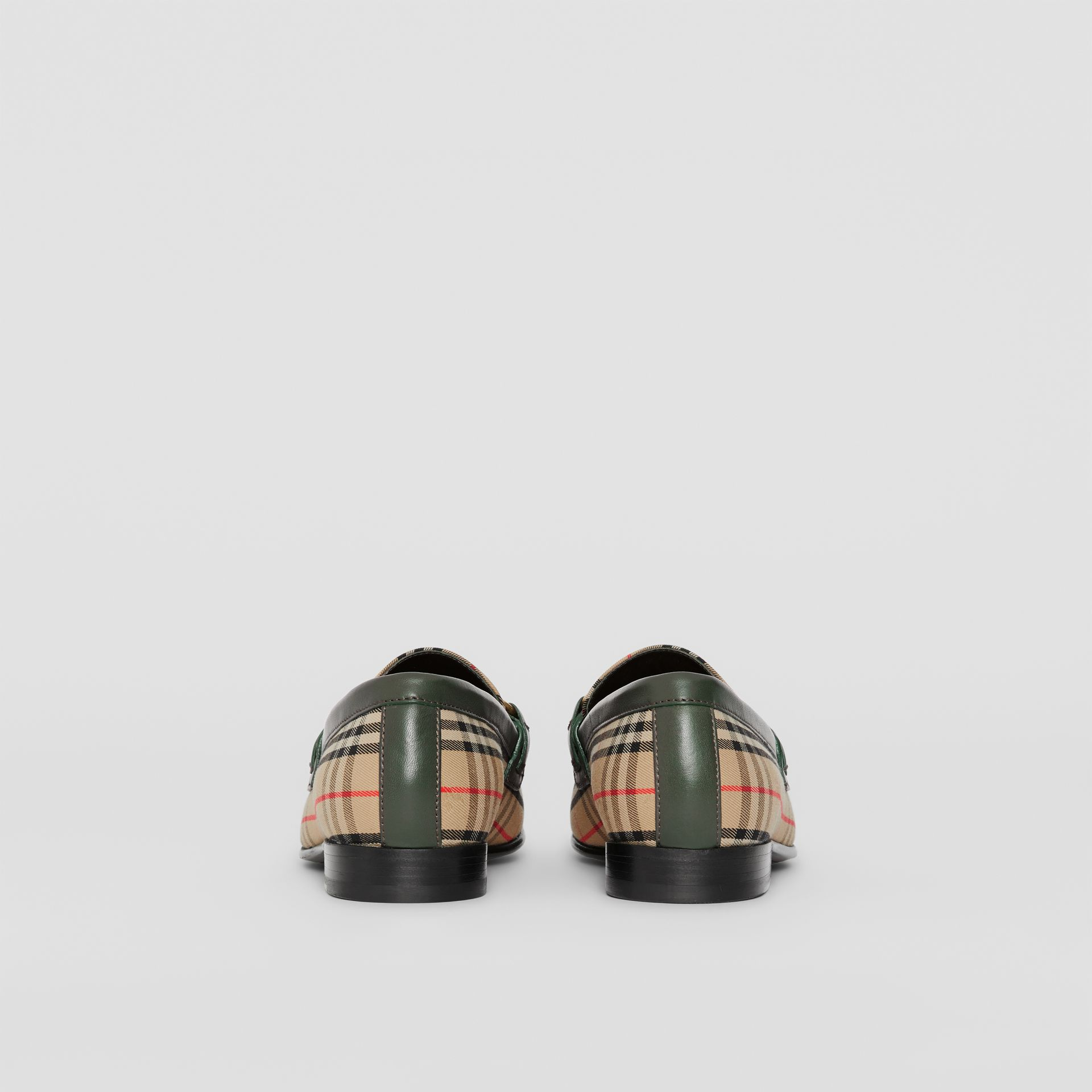 The 1983 Check Link Loafer in Dark Forest Green - Women | Burberry Australia - gallery image 3