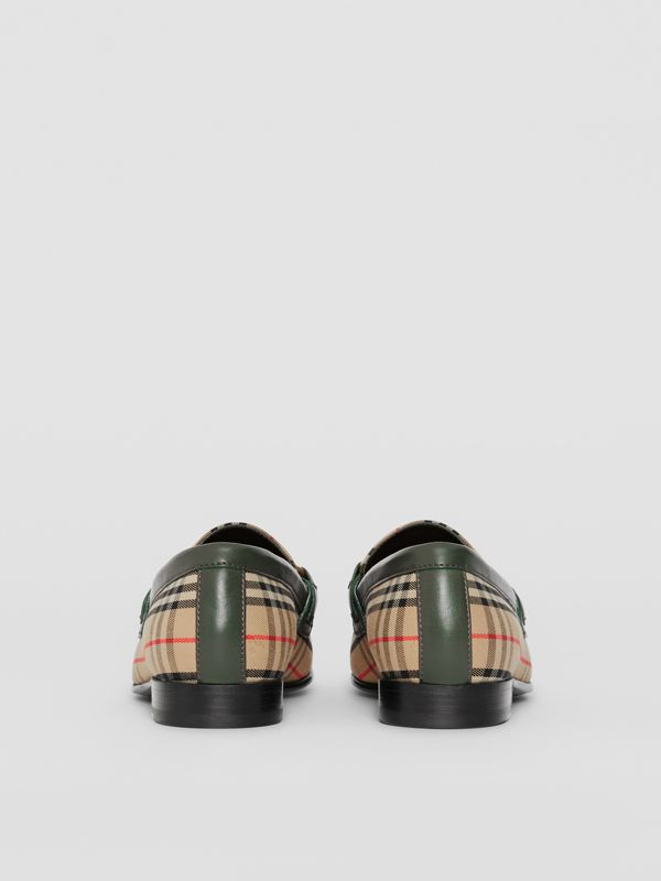 Mocassini The Link con motivo tartan del 1983 (Verde Foresta Scuro) - Donna | Burberry - cell image 3