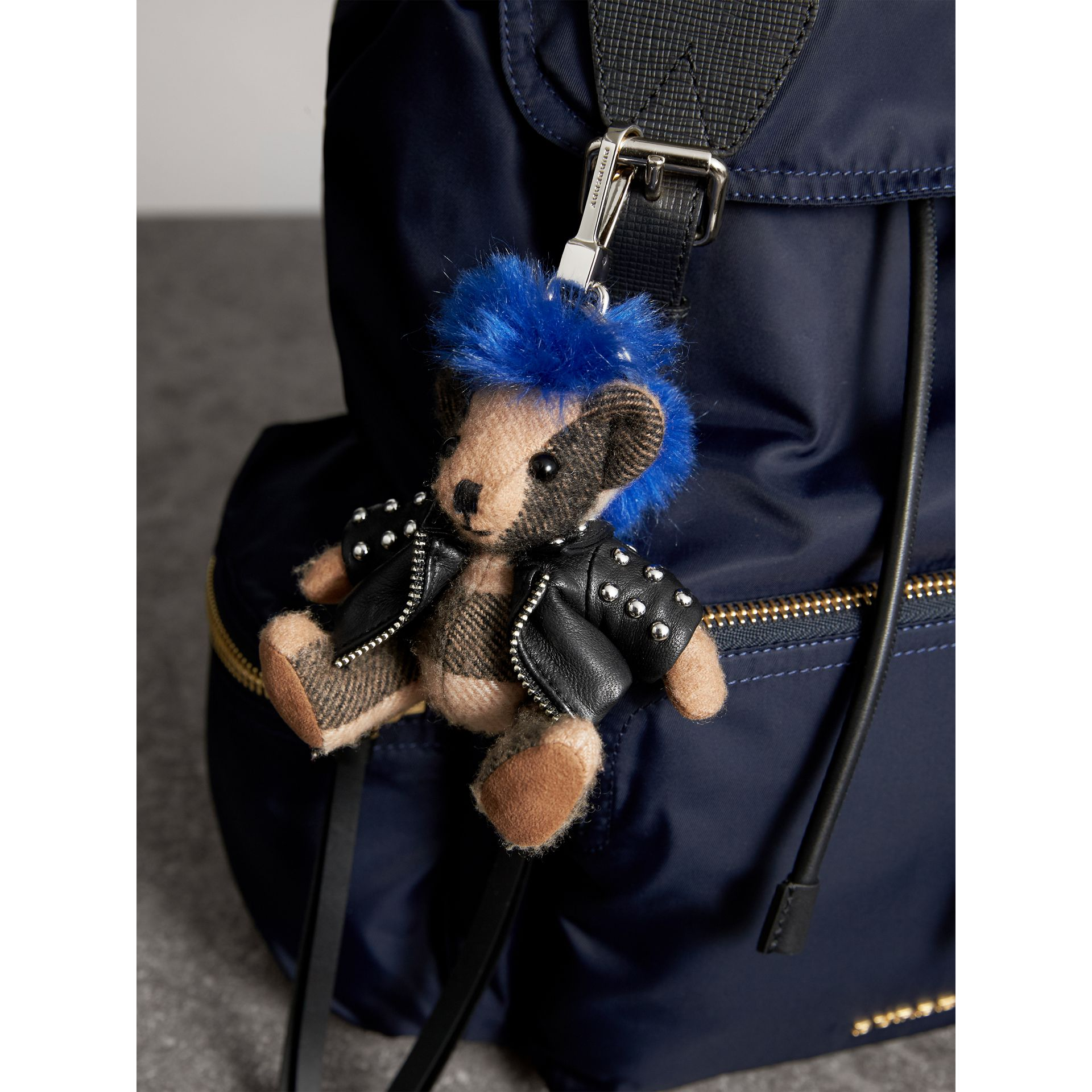 The Punk Thomas Bear Charm in Camel | Burberry - gallery image 3