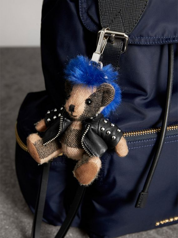 The Punk Thomas Bear Charm in Camel | Burberry - cell image 2