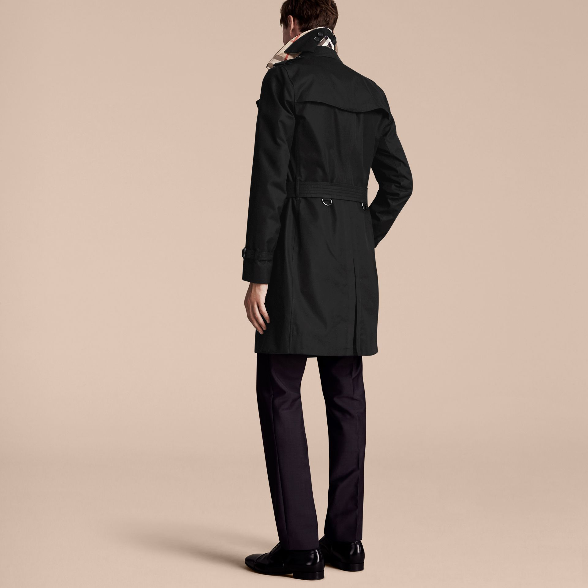 Black The Sandringham – Long Heritage Trench Coat Black - gallery image 3