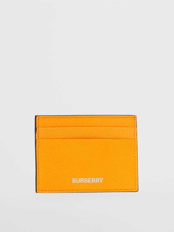 Grainy Leather Card Case in Bright Orange - Men | Burberry - cell image 2