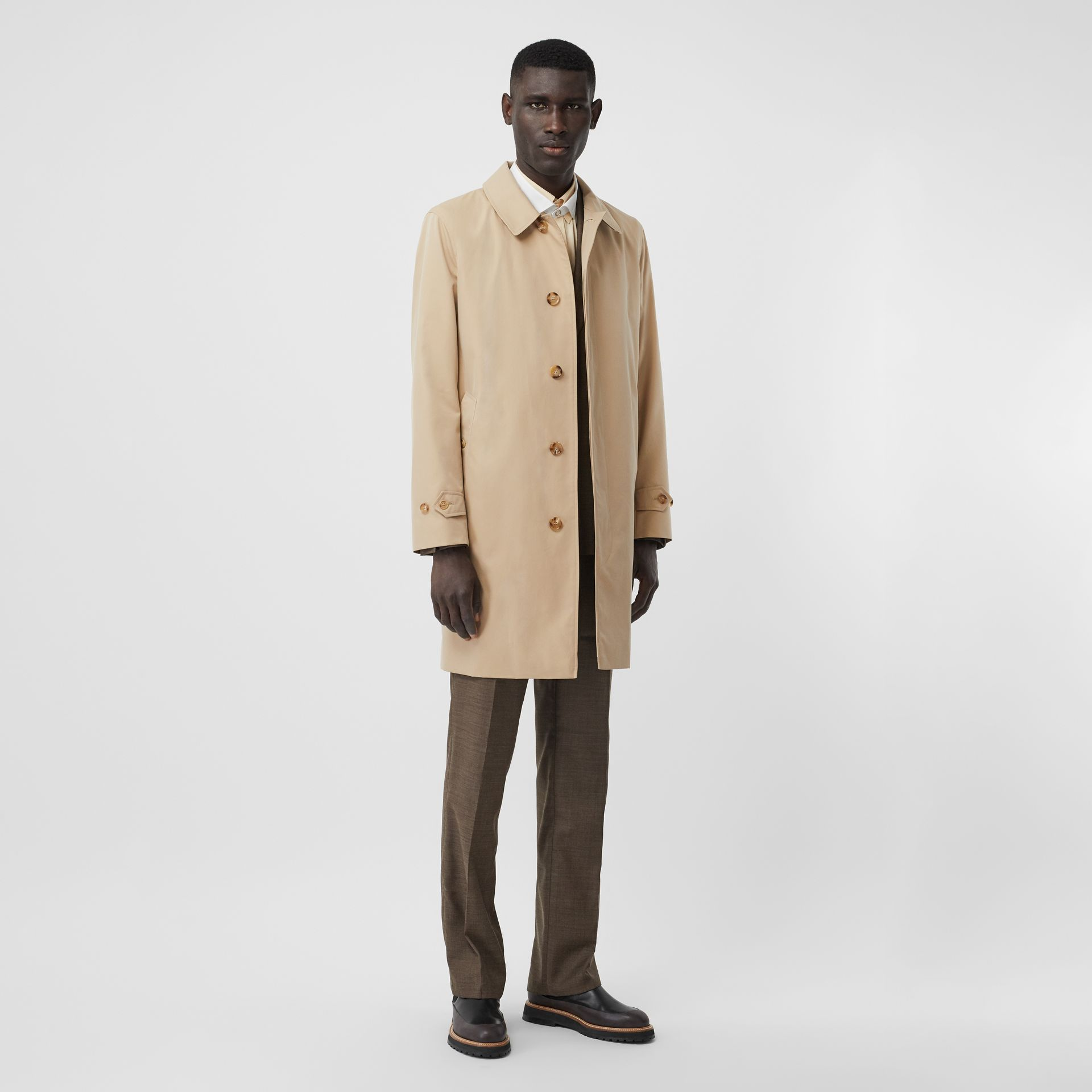The Pimlico Heritage Car Coat in Honey - Men | Burberry United Kingdom - gallery image 2