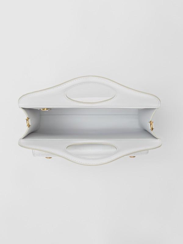 Bolsa Pocket de couro com detalhe em relevo - Mini (Cinza Seixo Claro) - Mulheres | Burberry - cell image 3