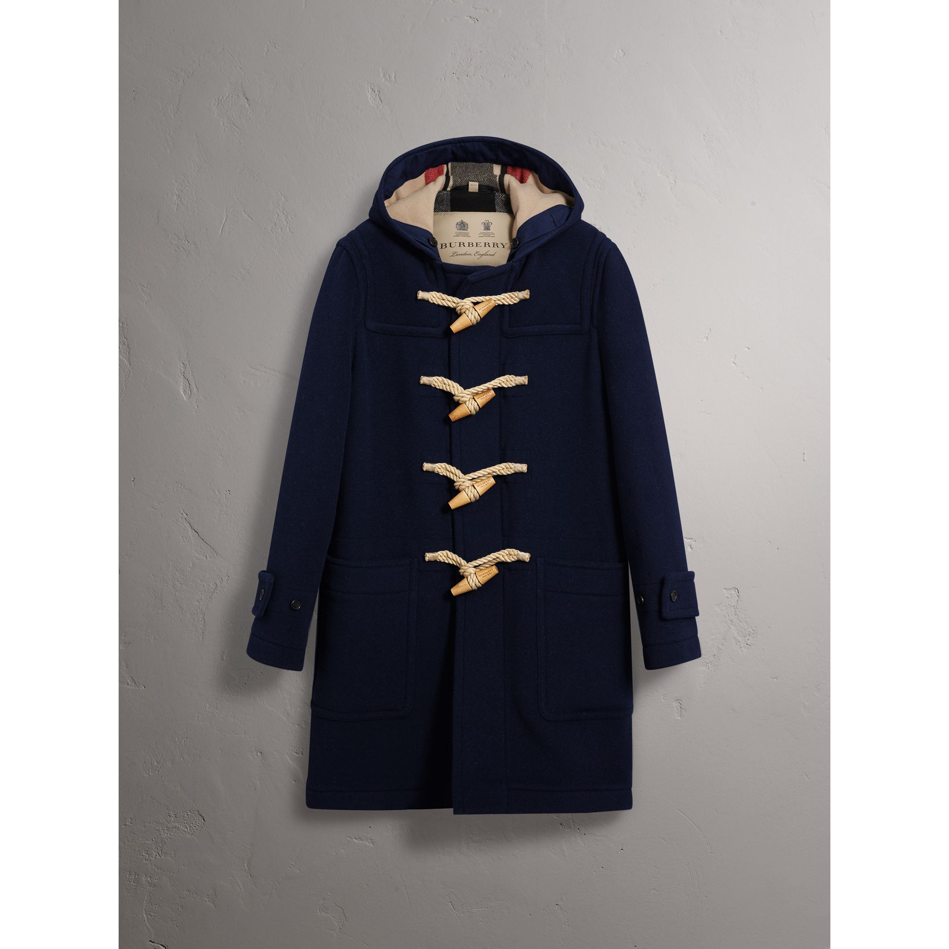 The Greenwich Duffle Coat in Navy - Men | Burberry Singapore - gallery image 4