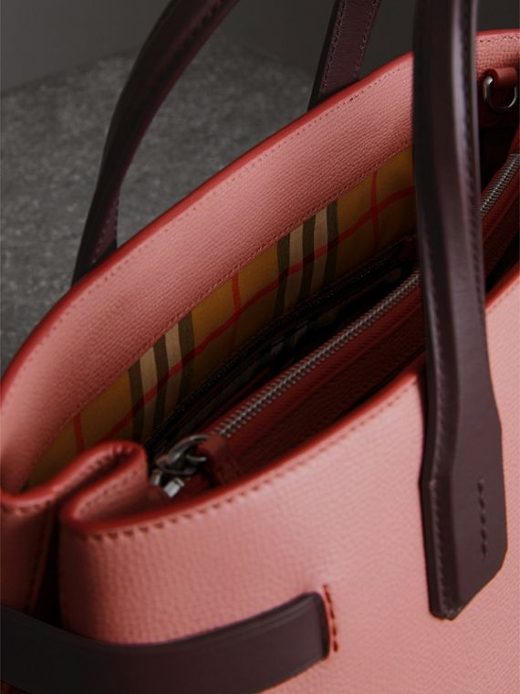 Sac The Banner moyen en cuir bicolore (Rose Cendré/bordeaux Intense) - Femme | Burberry - cell image 3