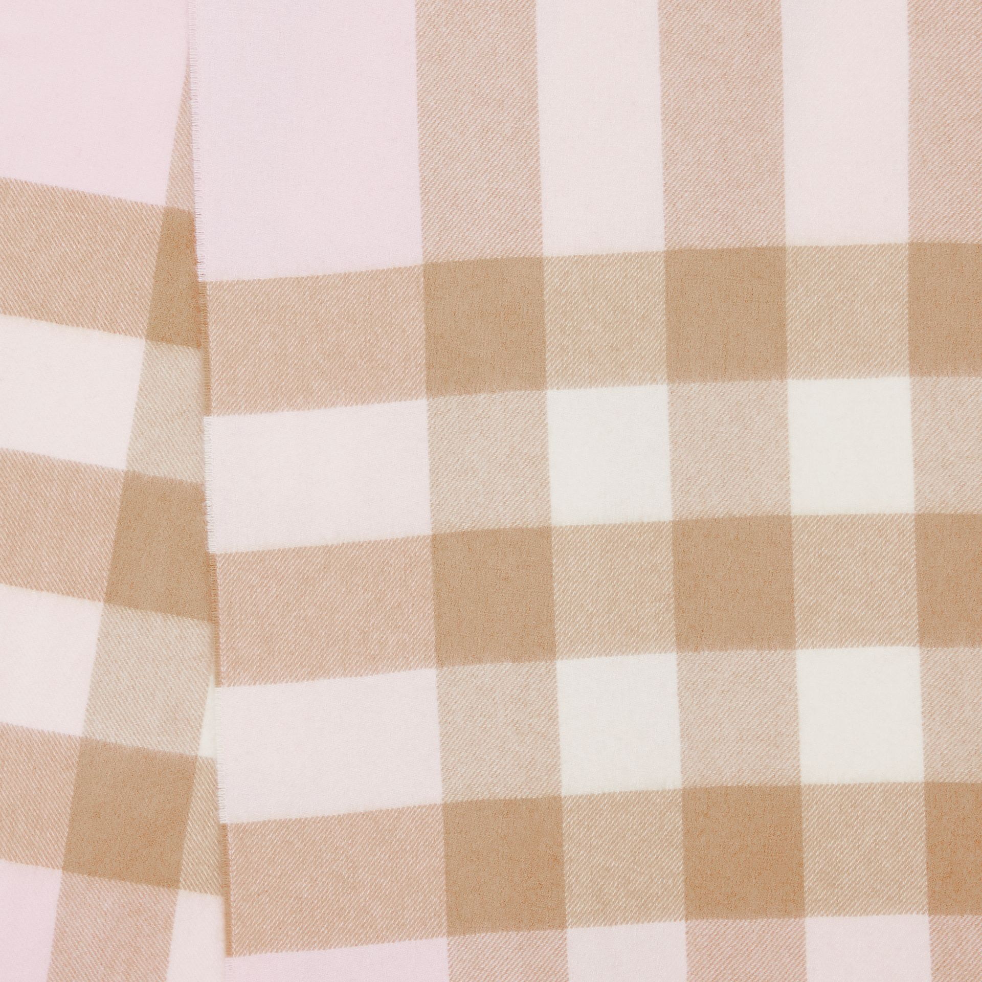 Check Cashmere Scarf in Alabaster Pink | Burberry - gallery image 1