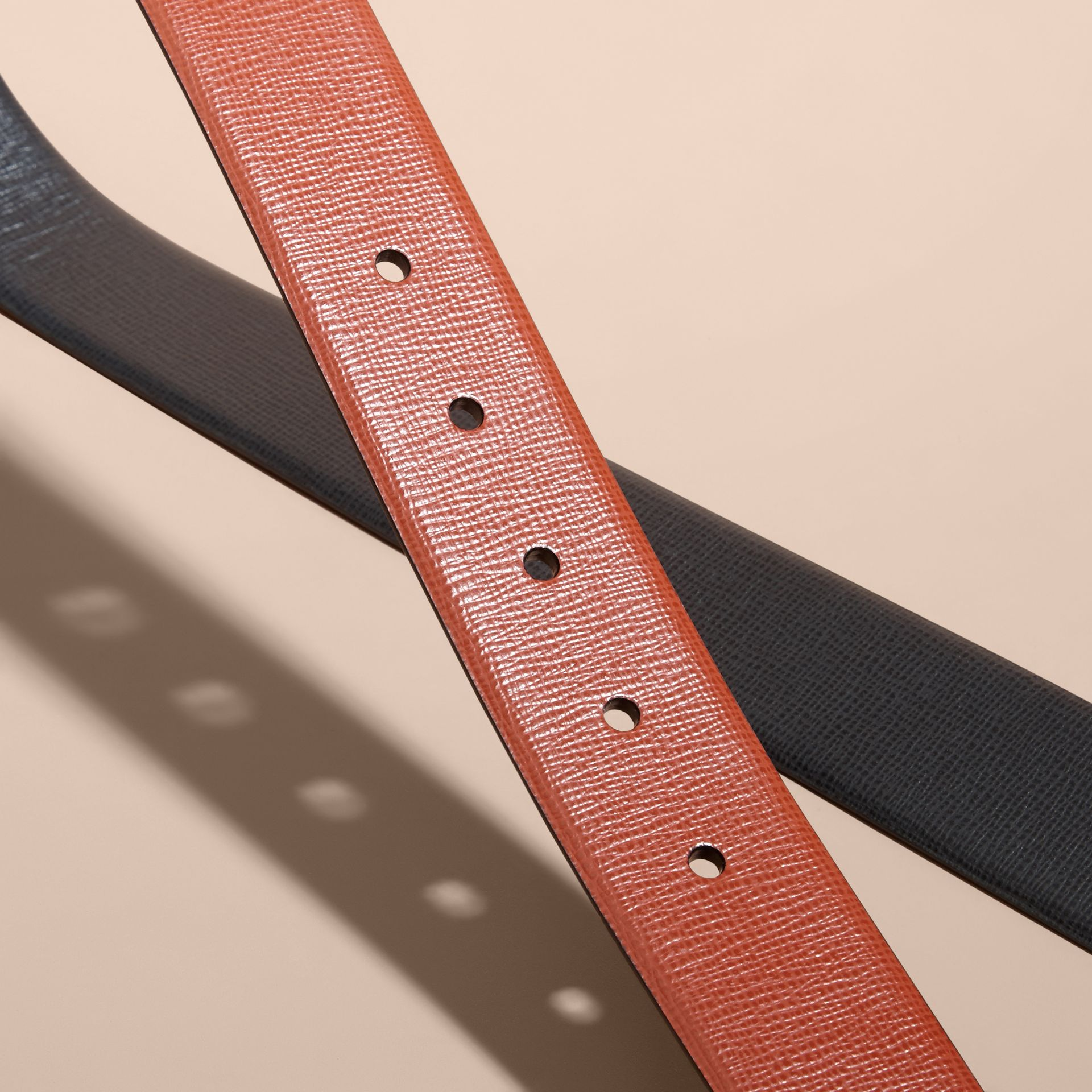 Burnt sienna/black Reversible London Leather Belt Burnt Sienna/black - gallery image 3