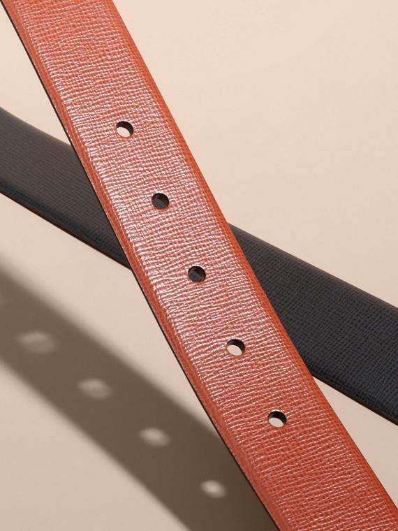 Burnt sienna/black Reversible London Leather Belt Burnt Sienna/black - cell image 2