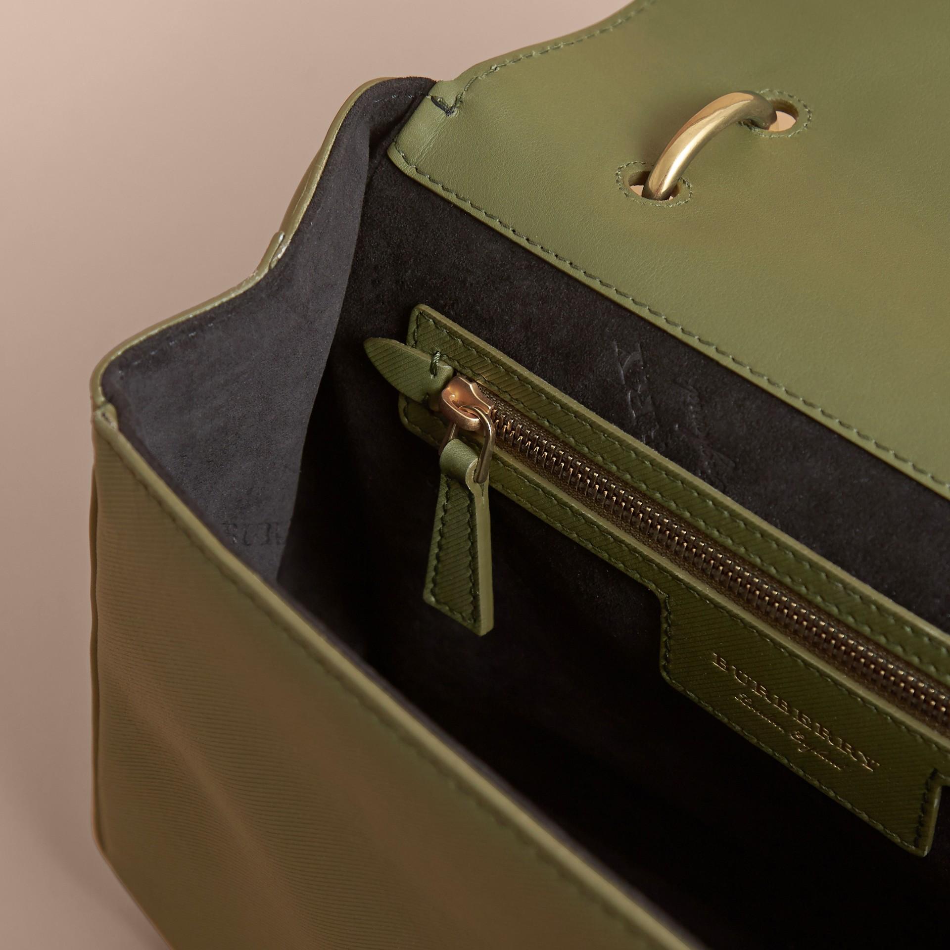 The Medium DK88 Top Handle Bag Moss Green - gallery image 6