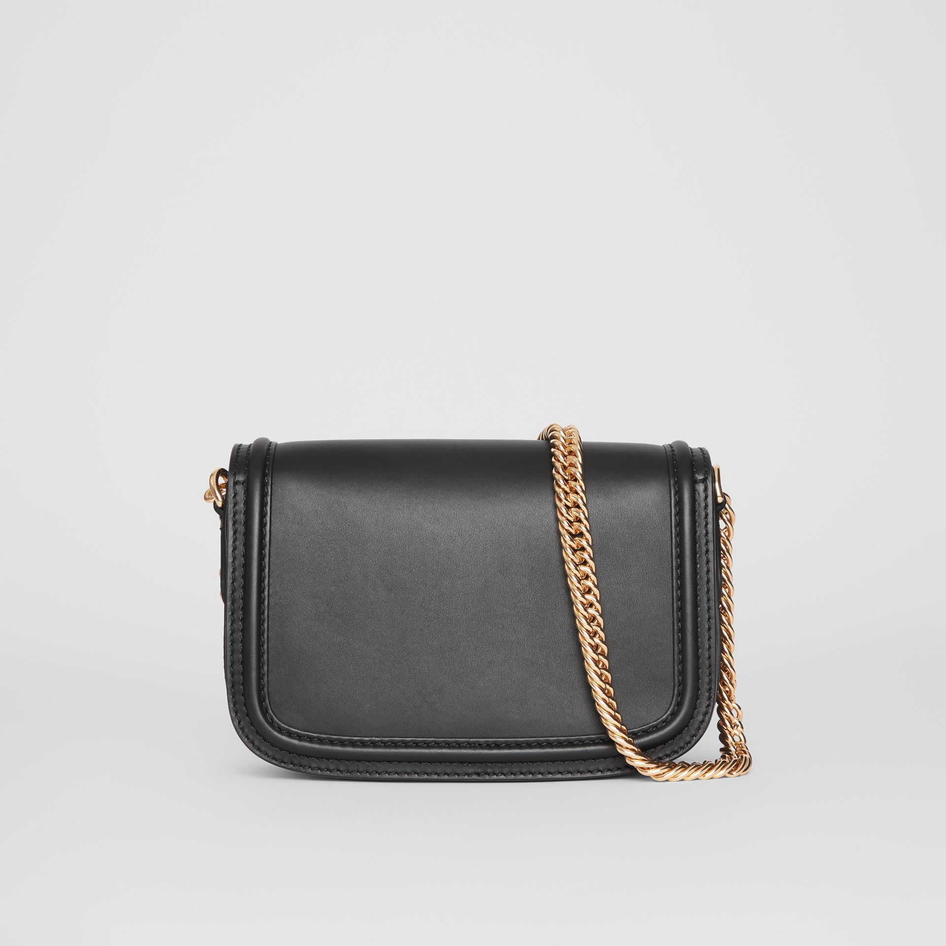 The Leather Link Bag in Black - Women | Burberry - gallery image 7