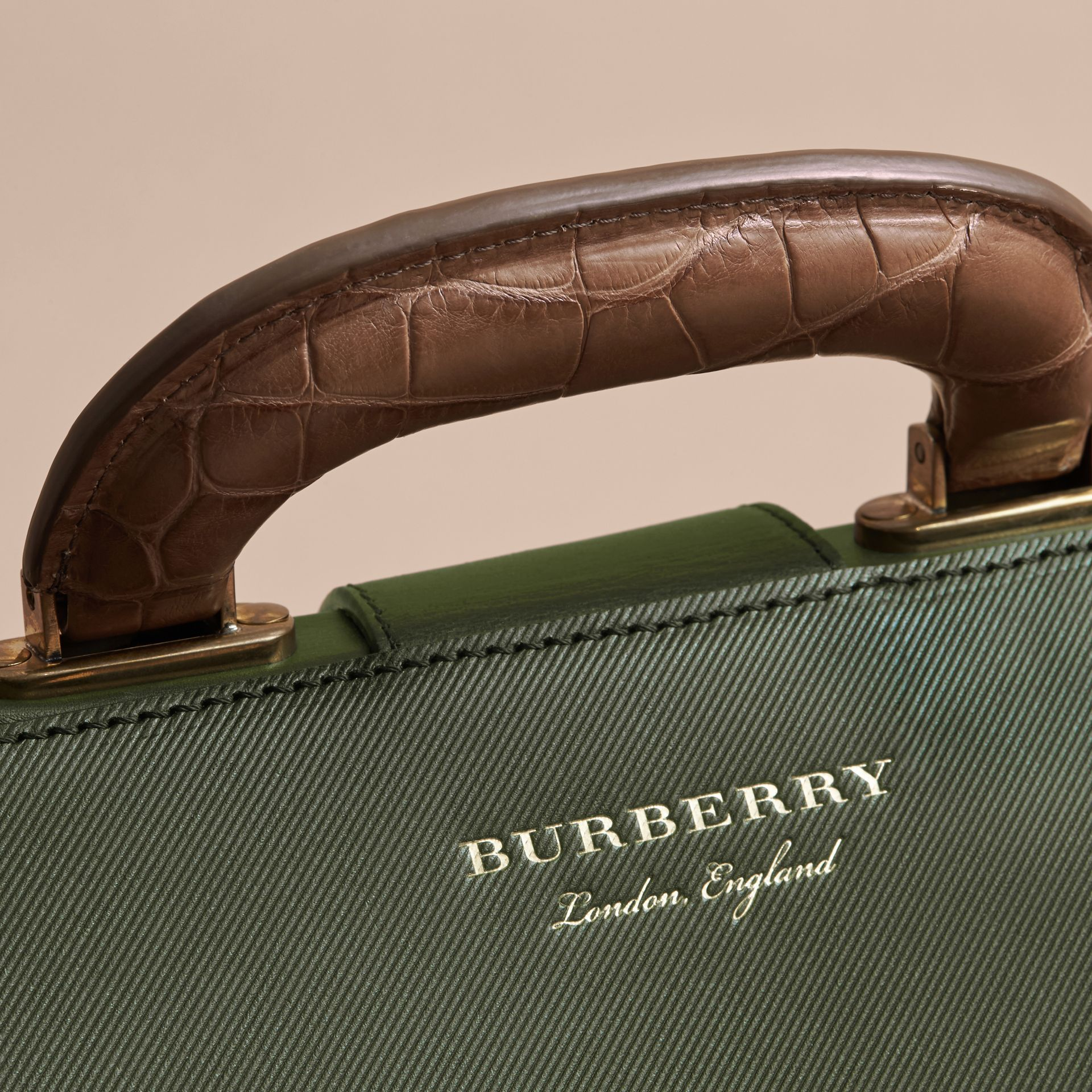 The DK88 Doctor's Bag with Alligator in Dark Forest Green - Men | Burberry United Kingdom - gallery image 2