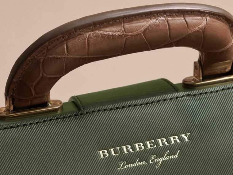 The DK88 Doctor's Bag with Alligator in Dark Forest Green - Men | Burberry United Kingdom - cell image 1