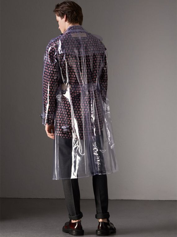 Plastic Trench Coat in Crystal - Men | Burberry United Kingdom - cell image 2