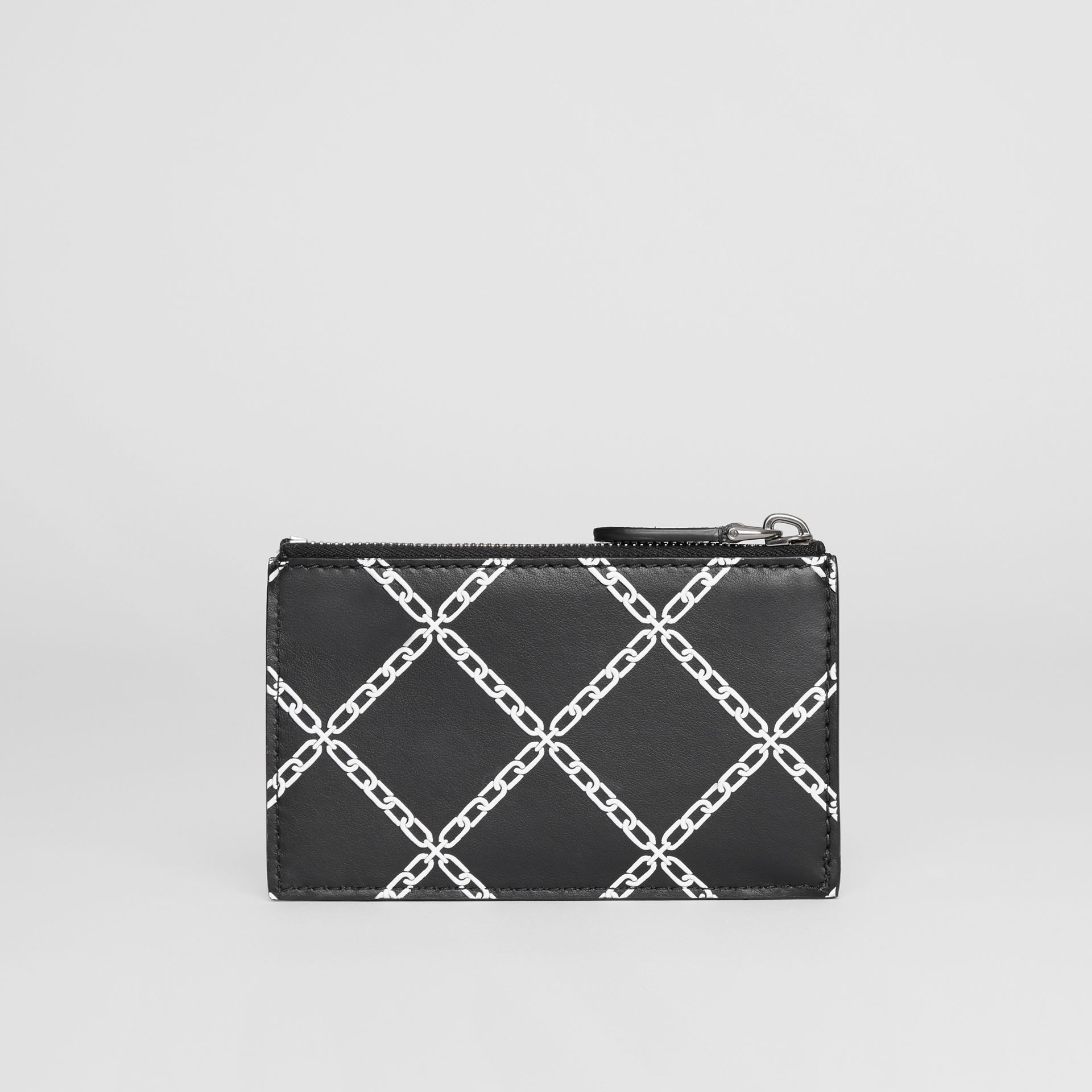 Link Print Leather Card Case in Black - Men | Burberry - gallery image 5