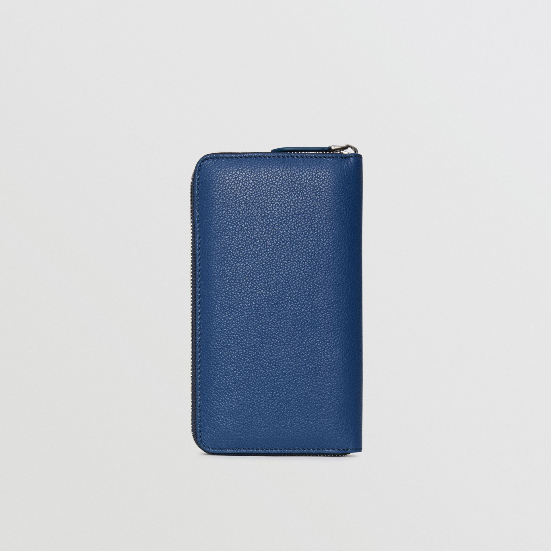 Grainy Leather Ziparound Wallet in Bright Ultramarine - Men | Burberry - gallery image 5