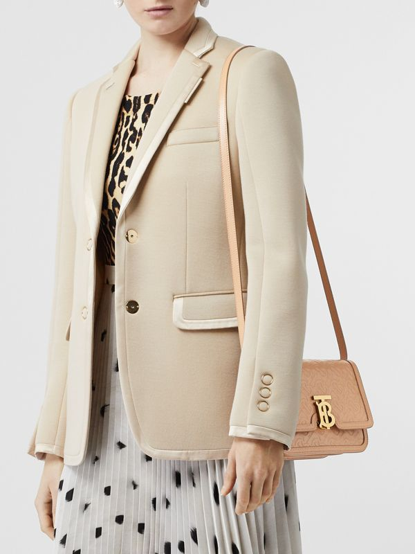 Small Monogram Leather TB Bag in Light Camel - Women | Burberry - cell image 2