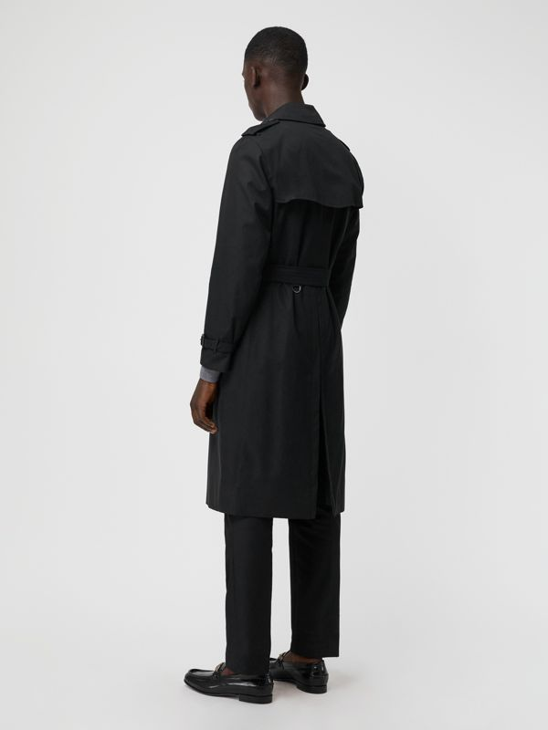 The Long Kensington Heritage Trench Coat in Black - Men | Burberry Singapore - cell image 2