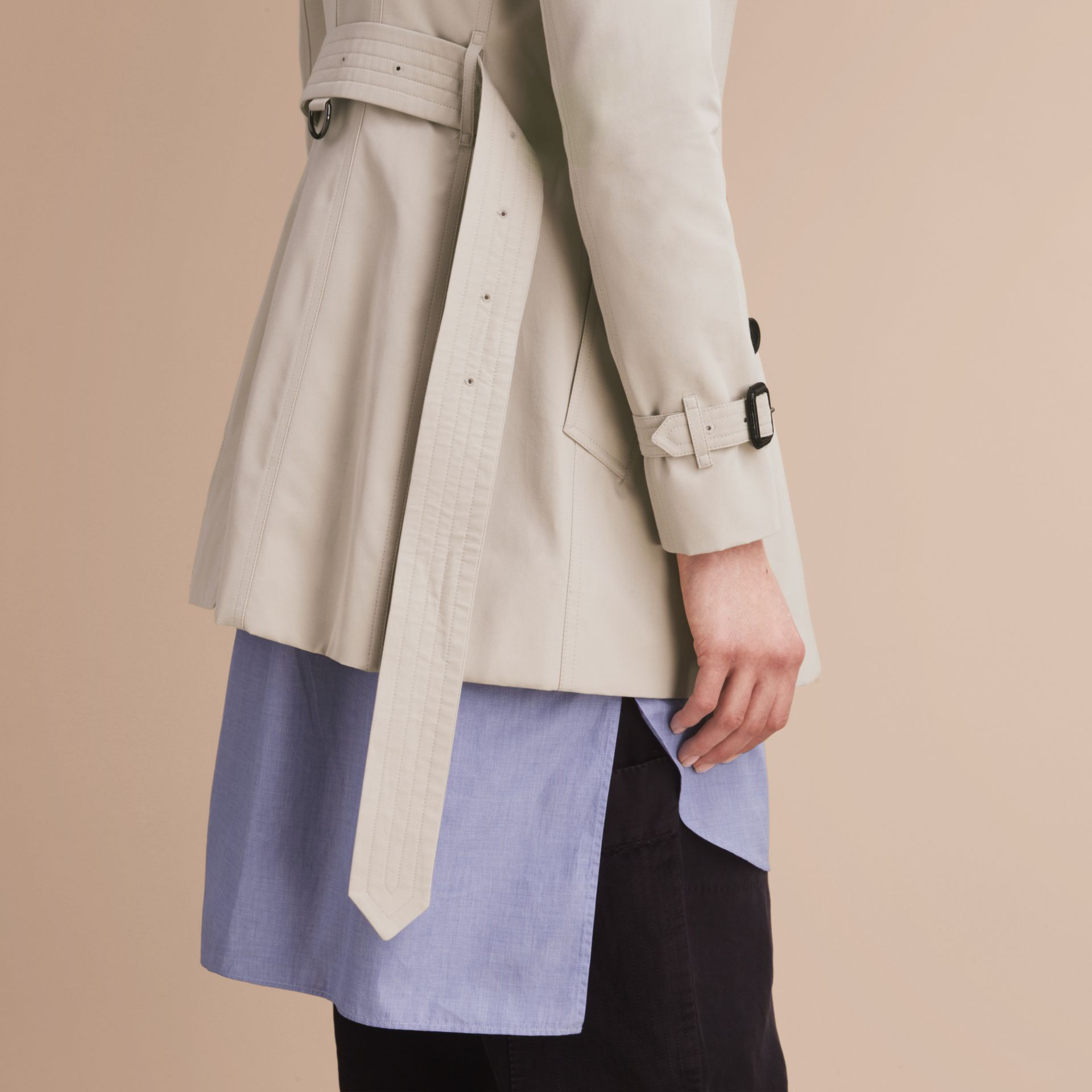 Stone The Chelsea – Short Heritage Trench Coat Stone - gallery image 7