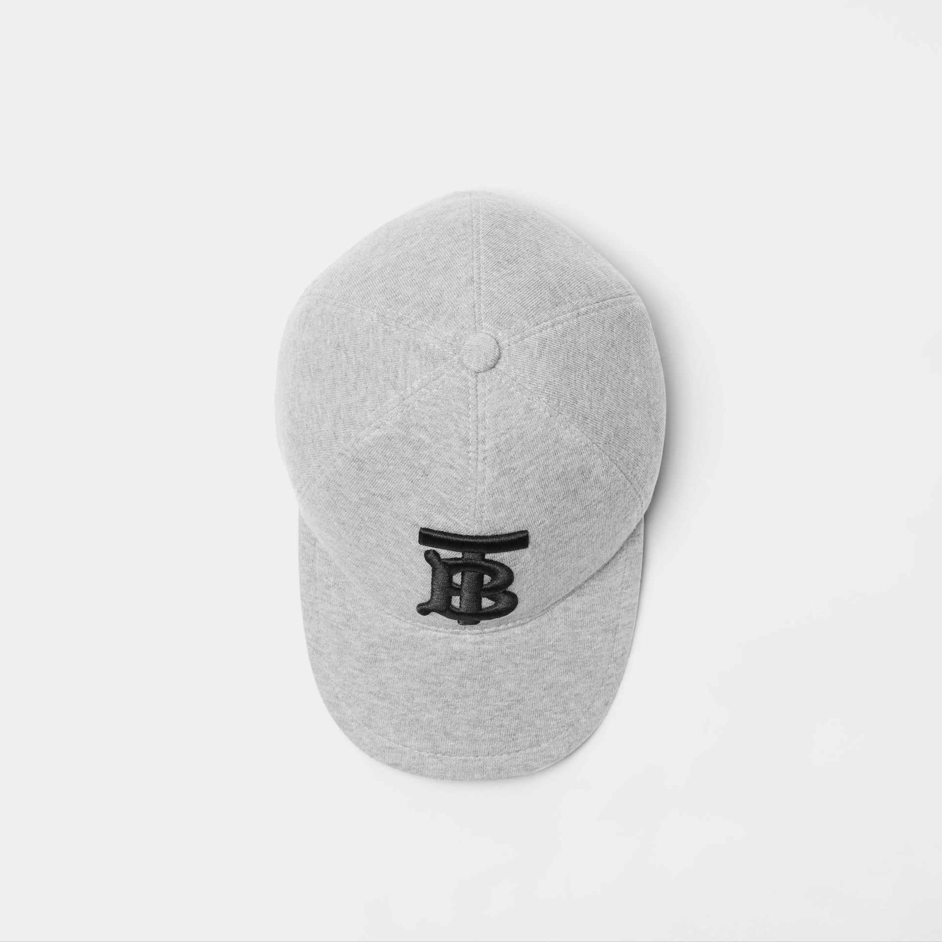Monogram Motif Baseball Cap in Light Grey Melange | Burberry - gallery image 0