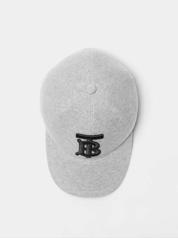 Monogram Motif Baseball Cap in Light Grey Melange