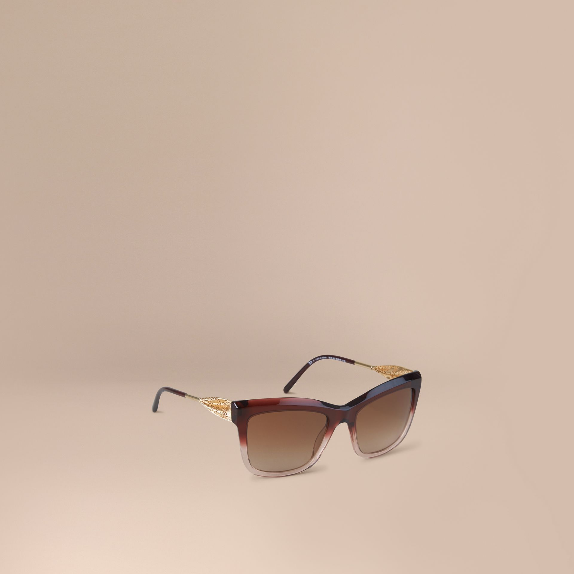 Dark military red Gabardine Lace Collection Square Frame Sunglasses Dark Military Red - gallery image 1