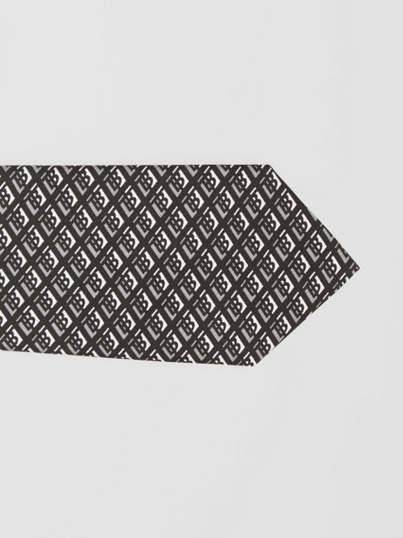 클래식컷 로고 그래픽 실크 타이 (미드 그레이) - 남성 | Burberry - cell image 1