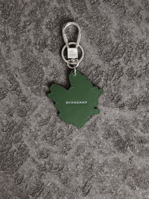 Beasts Leather Key Ring in Honey | Burberry - cell image 2