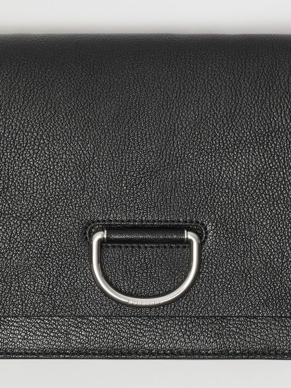 The Medium Leather D-ring Bag in Black - Women | Burberry Canada - cell image 1