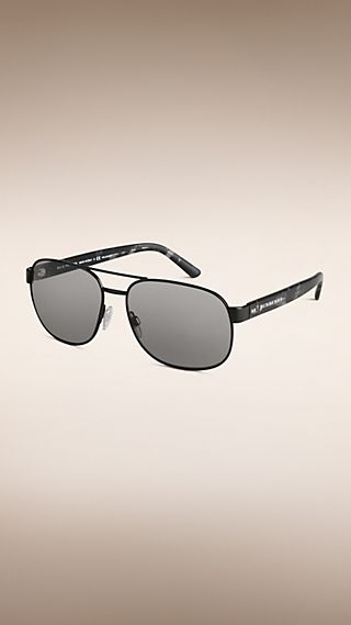 Square Frame Aviator Polarised Sunglasses