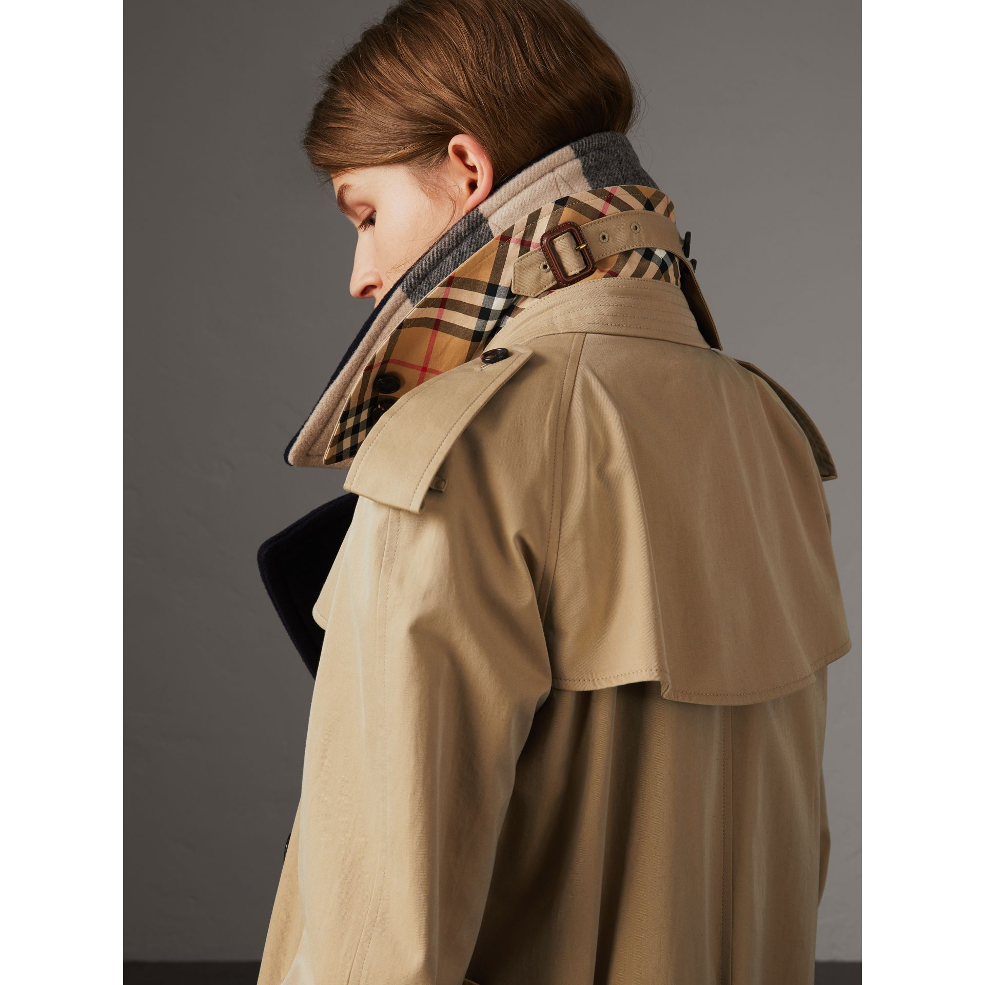 Tropical Gabardine Trench Coat with Detachable Facing in Honey - Women | Burberry Canada - gallery image 1