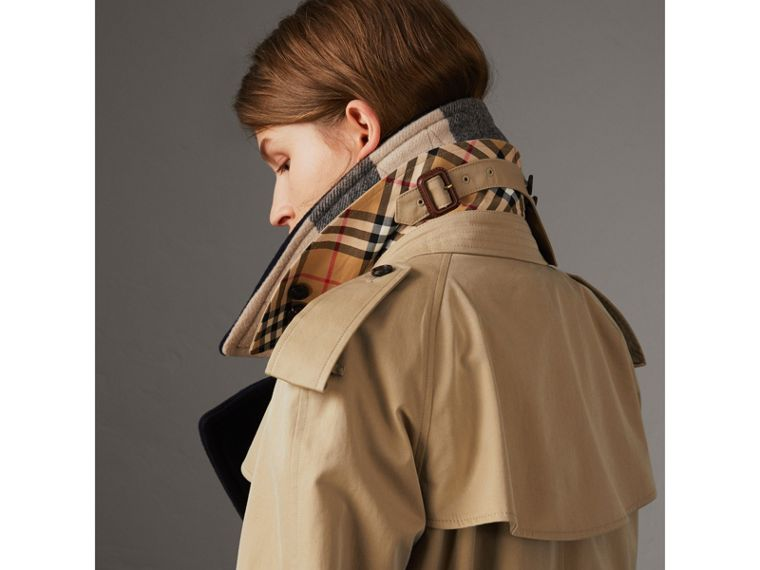 Tropical Gabardine Trench Coat with Detachable Facing in Honey - Women | Burberry - cell image 1