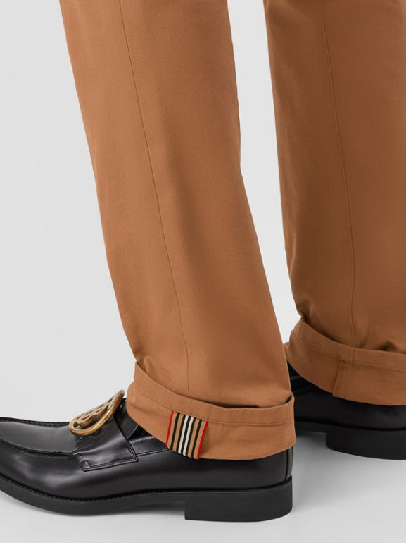 Classic Fit Cotton Chinos in Warm Walnut - Men | Burberry - cell image 1