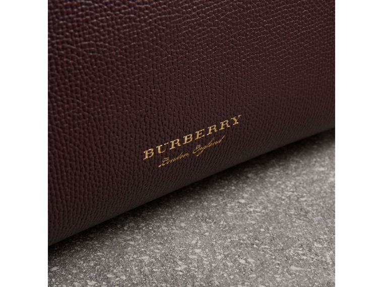 The Small Banner aus Leder und House Check-Gewebe (Mahagonirot) - Damen | Burberry - cell image 1