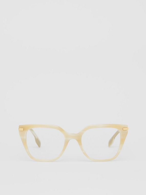 Monogram Motif Square Optical Frames in Light Horn