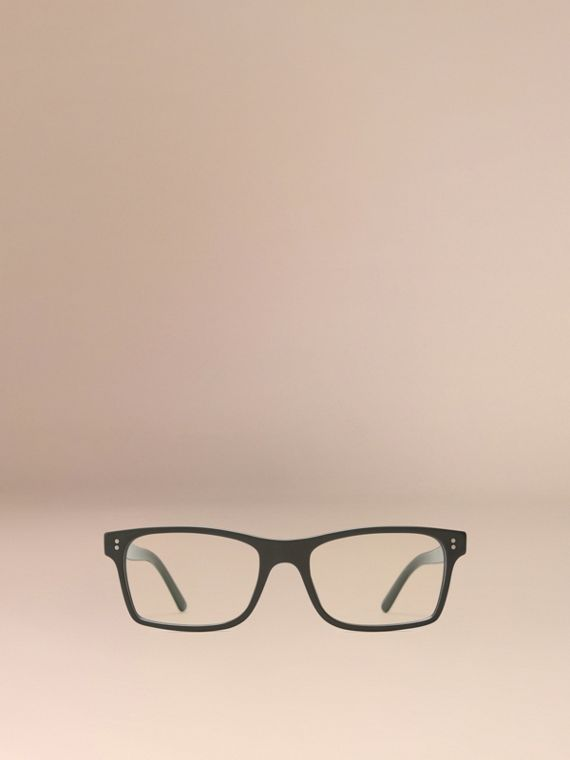 Black Rectangular Optical Frames Black - cell image 2