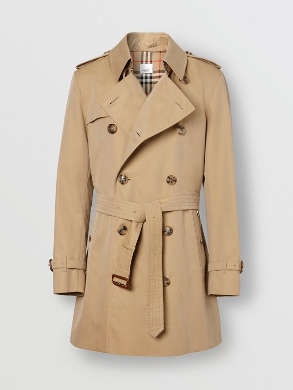 Cotton Gabardine Trench Coat in Honey - Men | Burberry United Kingdom - cell image 3