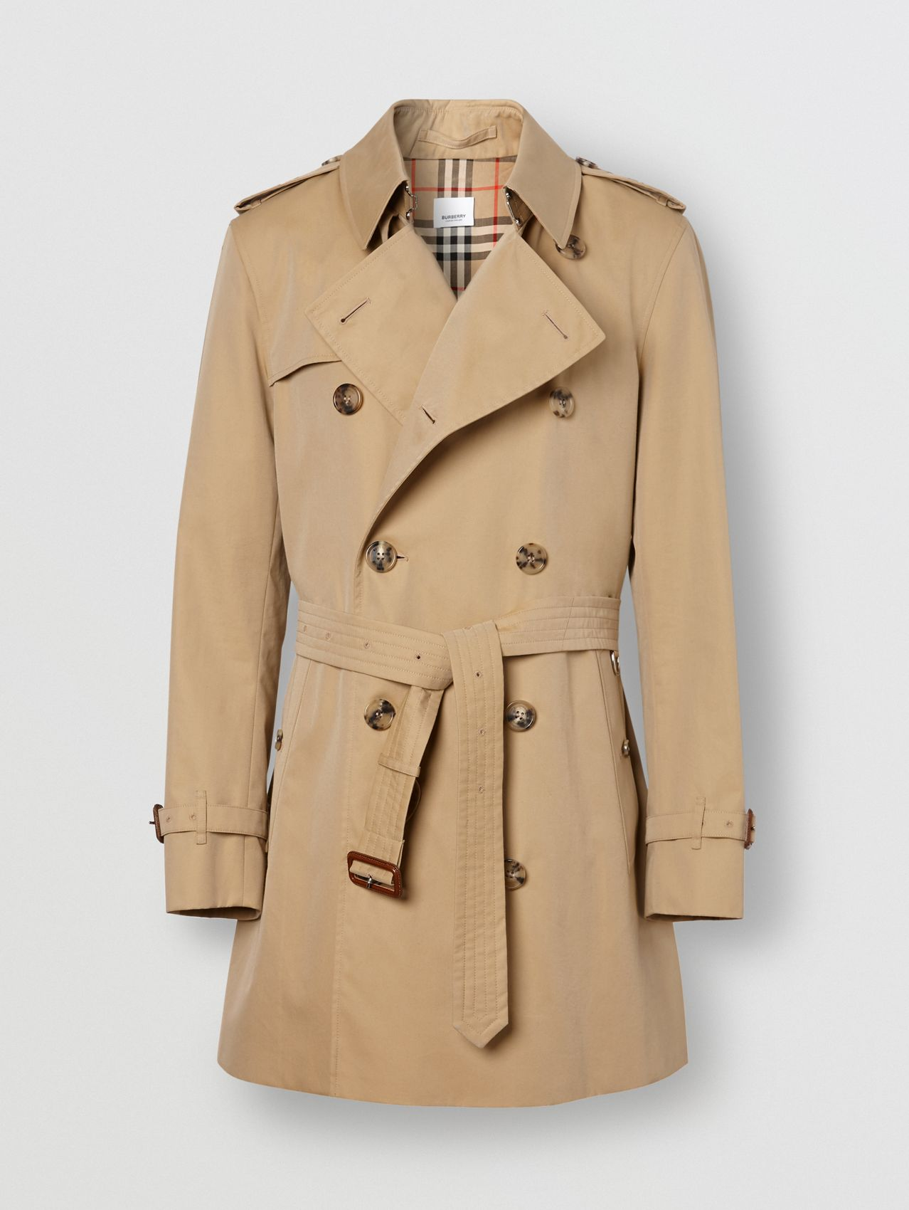 The Short Wimbledon Trench Coat in Honey
