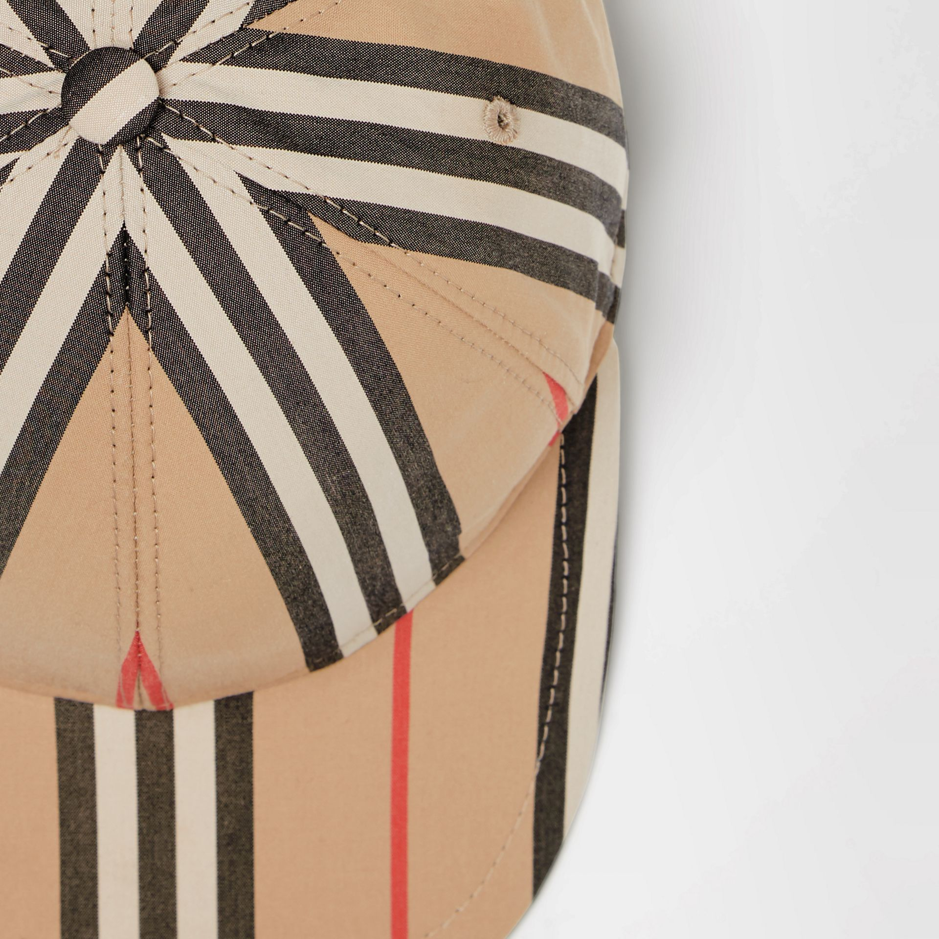 Icon Stripe Baseball Cap in Archive Beige | Burberry United Kingdom - gallery image 1
