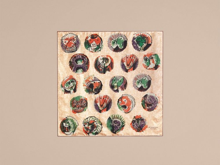 Pallas Heads Print Silk Square – Small - cell image 4