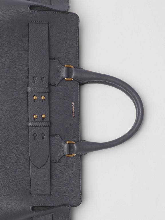 The Large Leather Belt Bag in Charcoal Grey | Burberry Australia - cell image 1