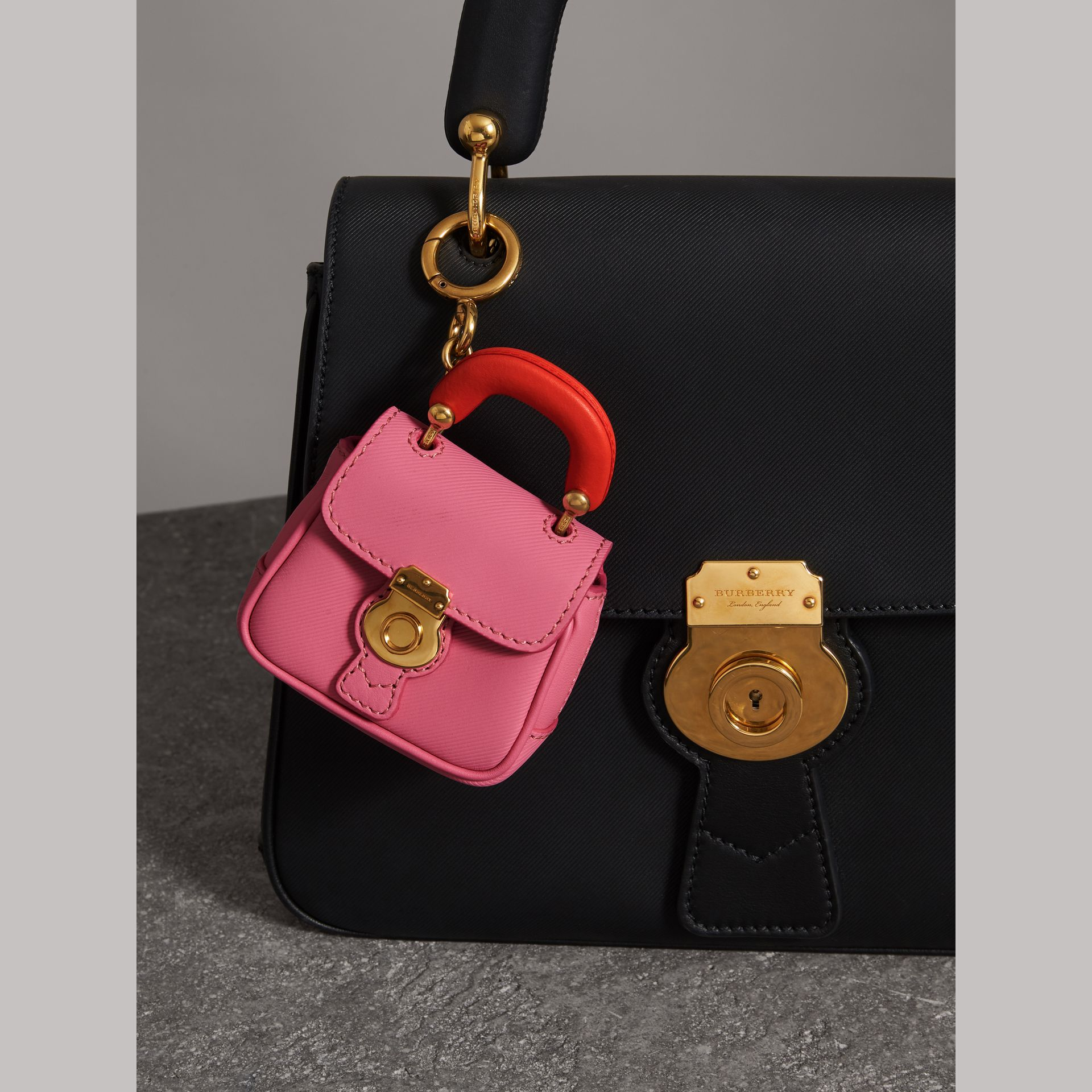 The DK88 Charm in Rose Pink/orange Red | Burberry United Kingdom - gallery image 2