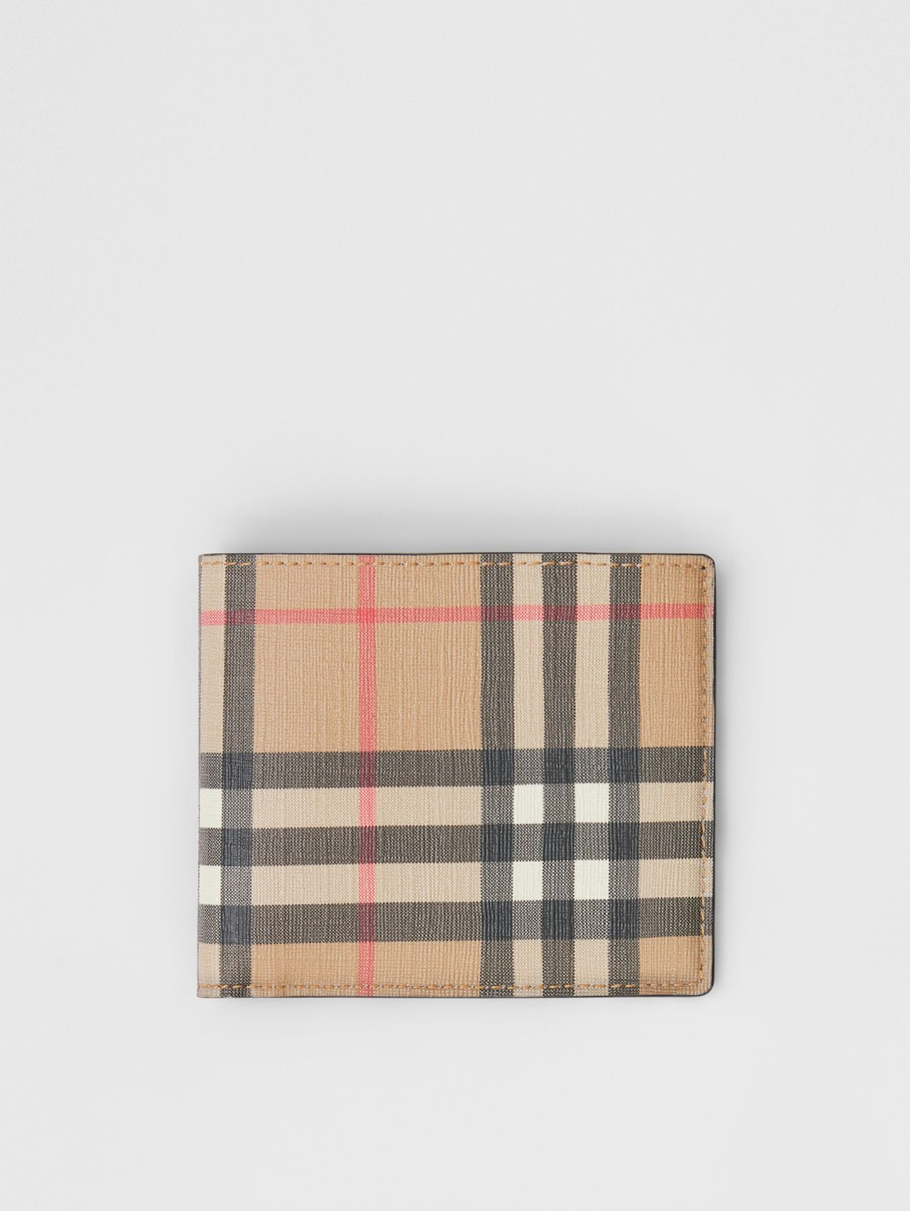 Vintage Check E-canvas International Bifold Wallet in Archive Beige