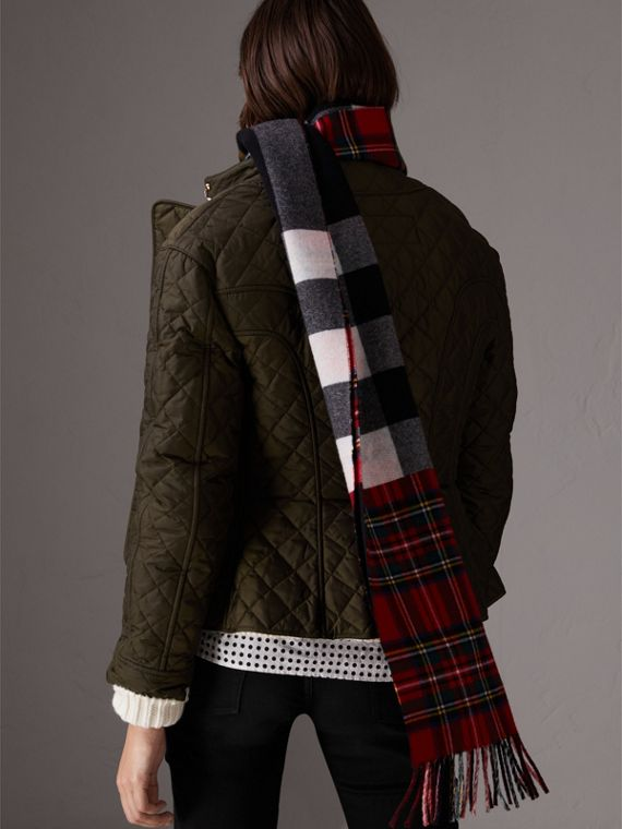 Diamond Quilted Jacket in Dark Olive - Women | Burberry - cell image 2