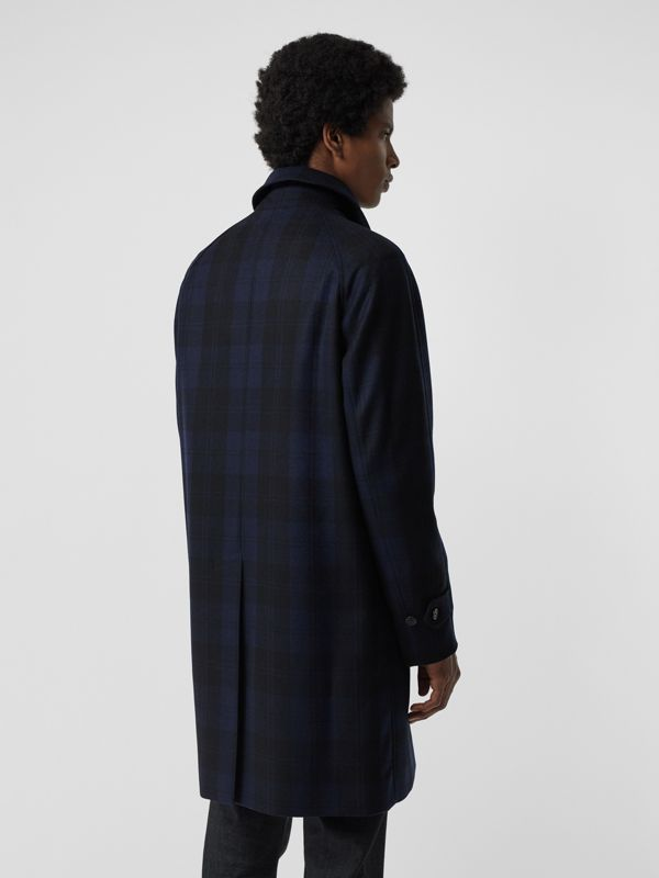 Check Cashmere Car Coat in Navy - Men | Burberry - cell image 2