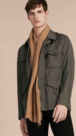 Technical Silk Blend Field Jacket