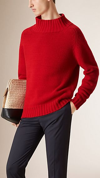 Funnel Neck Wool Jumper