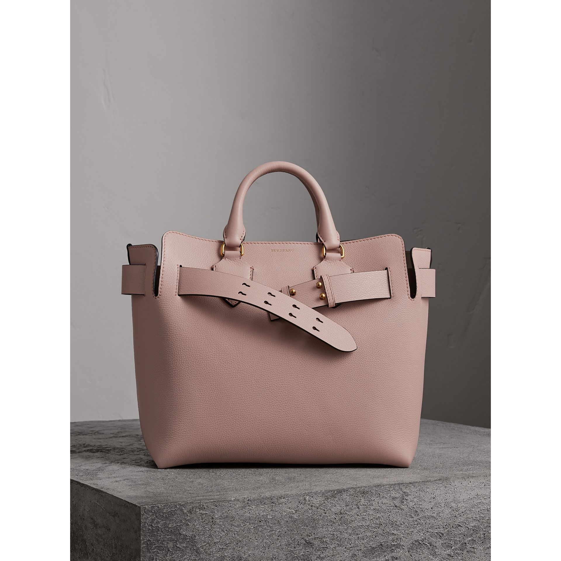 The Medium Leather Belt Bag in Pale Ash Rose - Women | Burberry United States - gallery image 6