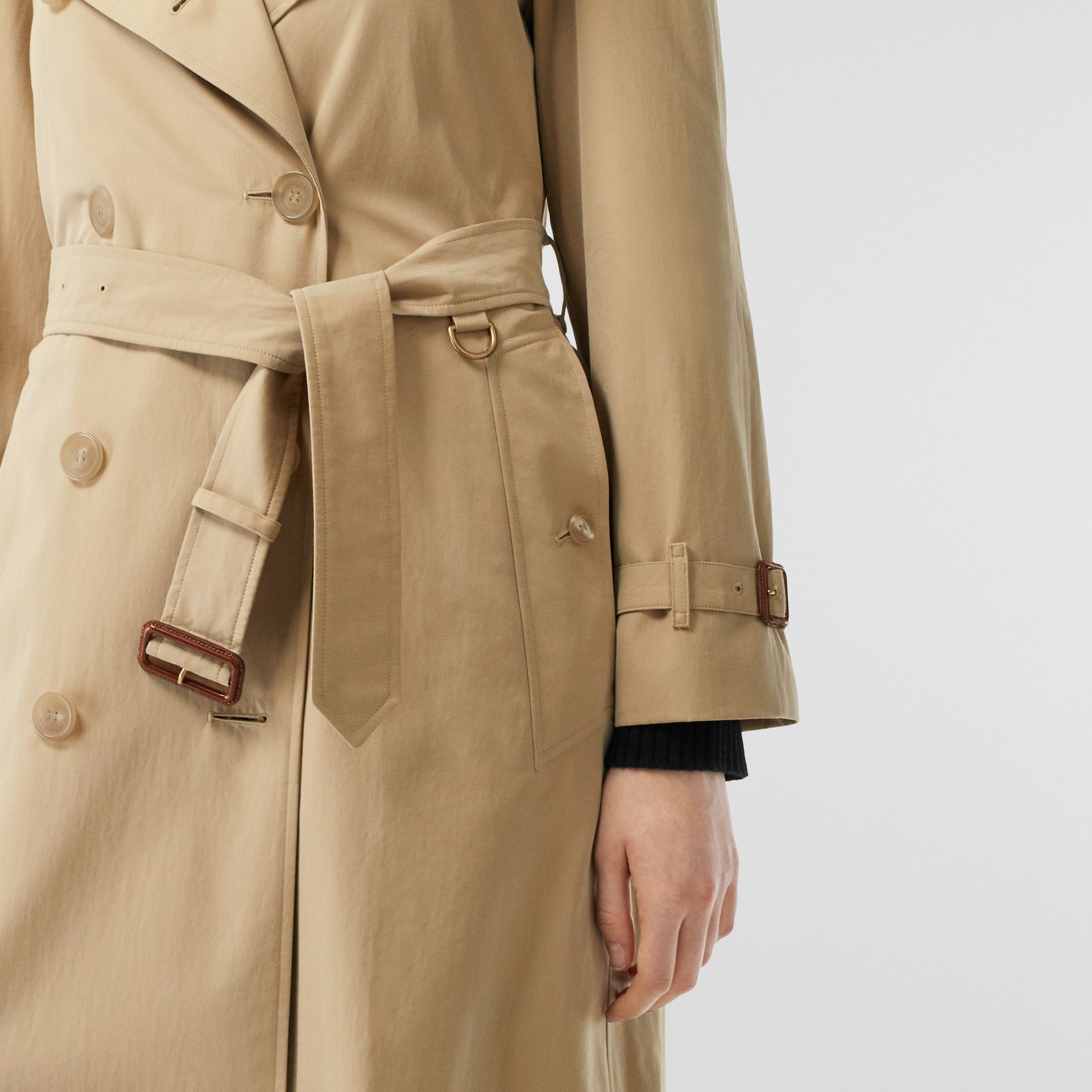 The Long Westminster Heritage Trench Coat in Honey - Women | Burberry - gallery image 5