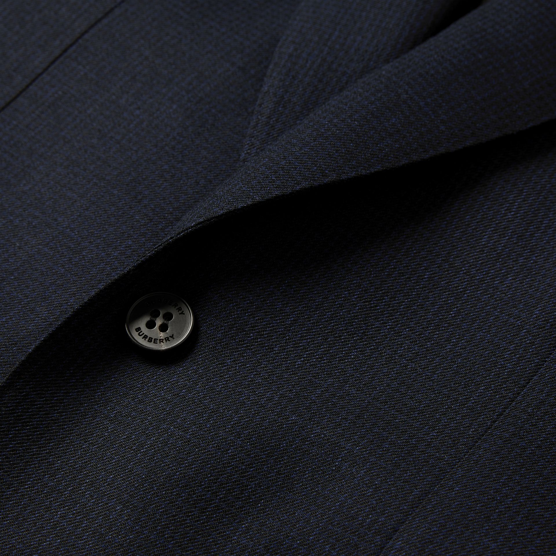 English Fit Puppytooth Check Wool Suit in Dark Navy - Men | Burberry - gallery image 7
